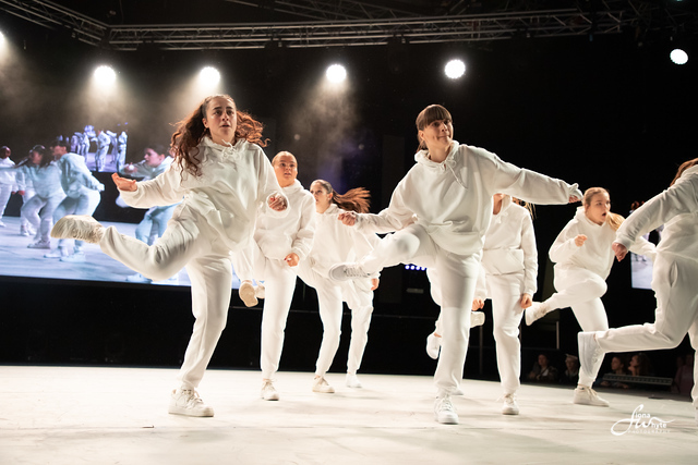 Group of dancers in white